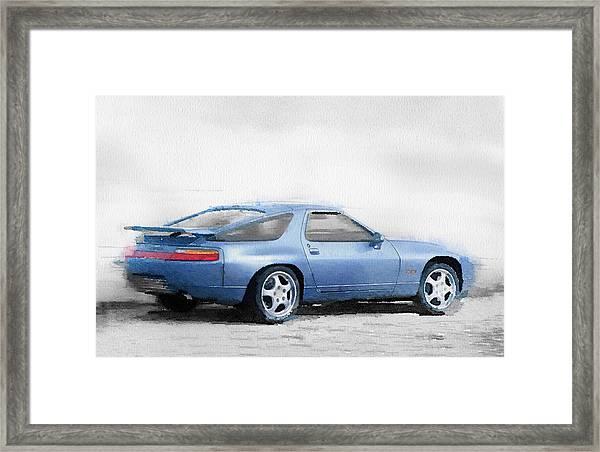 Porsche 928 Watercolor Framed Print