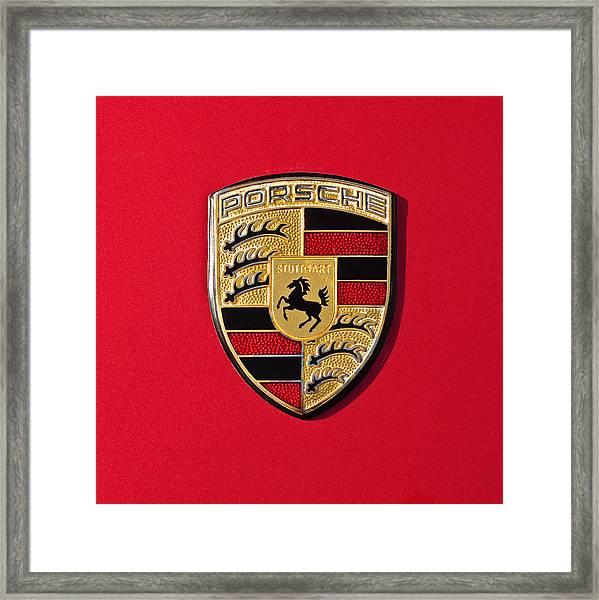 Porsche Emblem -0057cold Framed Print