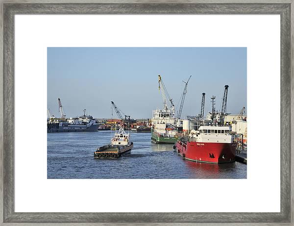 Port Fourchon Framed Print