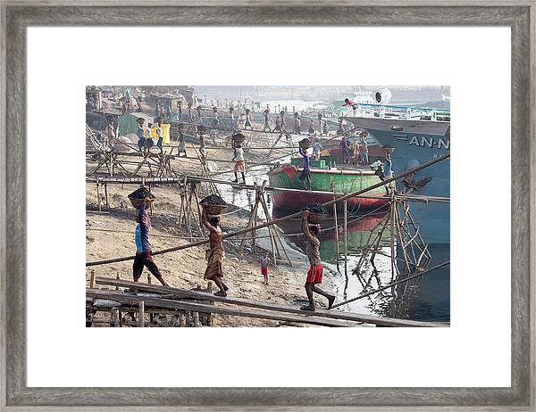 Port I Framed Print by Marcel Rebro