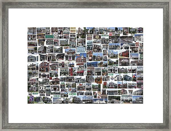 Port Jefferson Photo Collage Framed Print