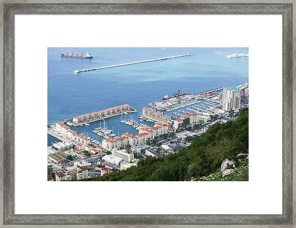 Port Of Gibraltar Framed Print