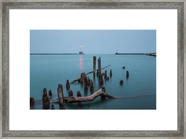 Port Washington Harbor Framed Print