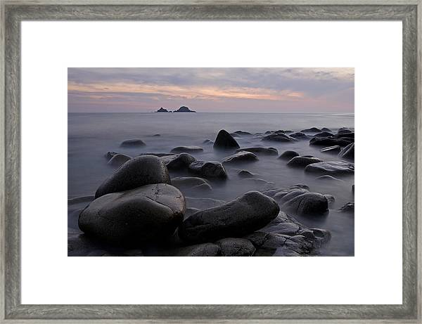 Porth Nanven In Cornwall Framed Print