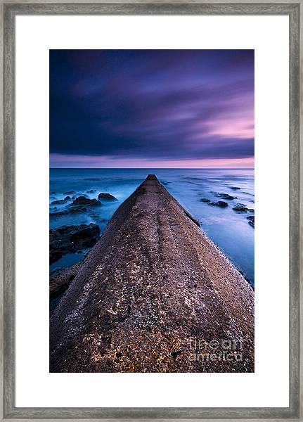 Porthleven Sunset Framed Print