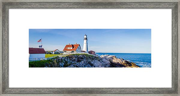 Portland Head Light House Cape Elizabeth Maine Framed Print