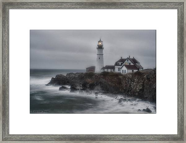 Portland Head Nor'easter Framed Print