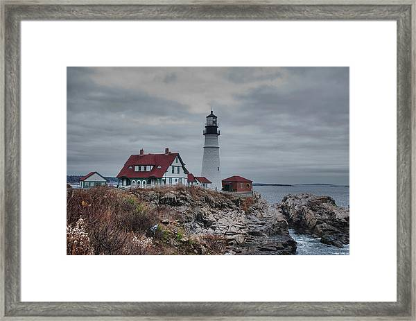 Portland Headlight 14456 Framed Print