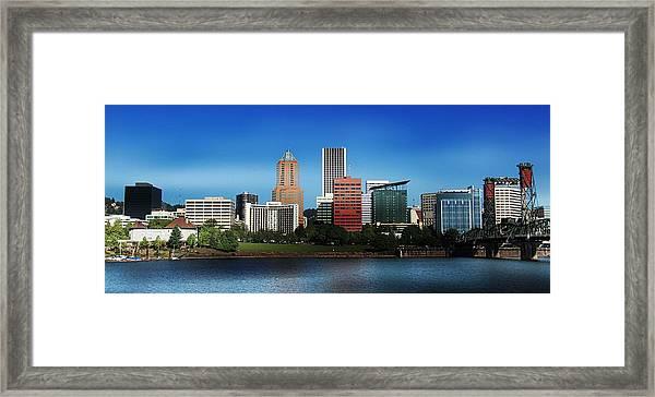 Portland Oregon Skyline  Framed Print