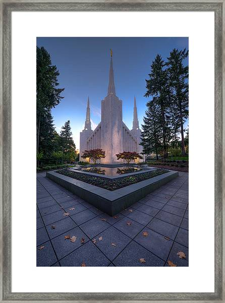 Portland Temple Framed Print
