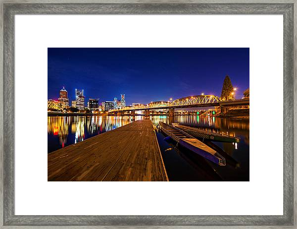 Framed Print featuring the photograph Portland Under The Stars by Dustin  LeFevre