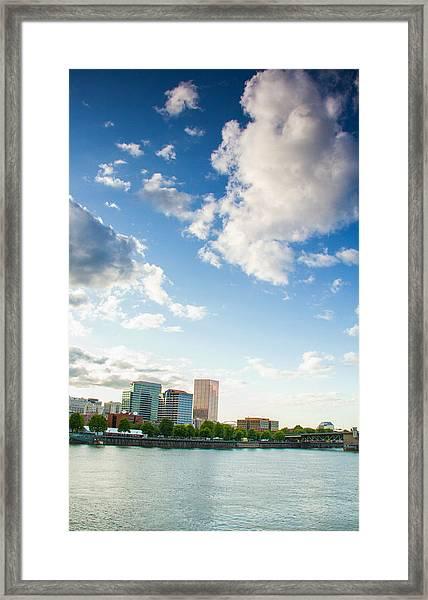 Portland Waterfront Framed Print