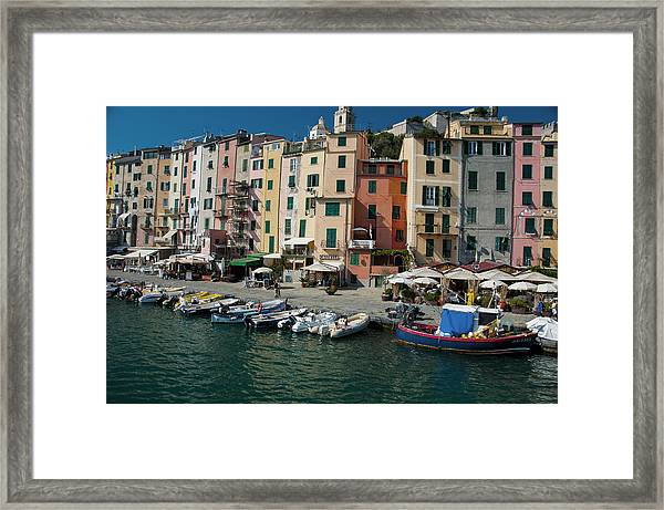 Portovenere Harbor 1 Framed Print