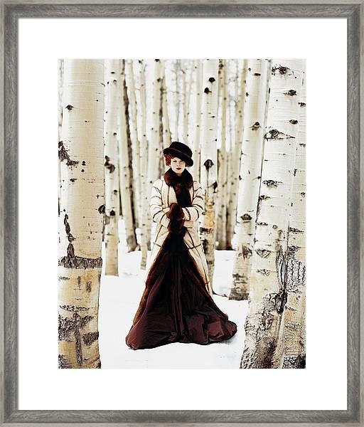 Karen Elson Models Gaultier Framed Print