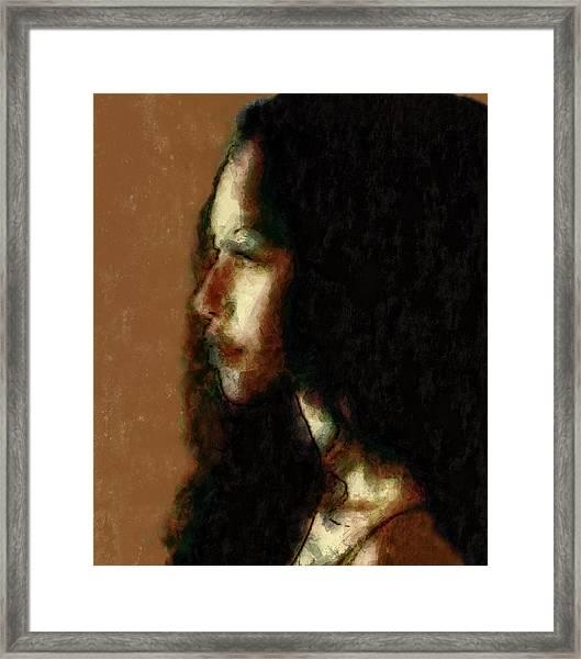 Portrait In Sepia Tones  Framed Print