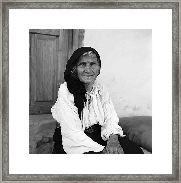 Portrait In Vrancea Romania Framed Print