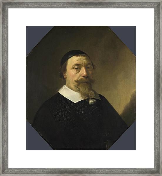 Portrait Of A Bearded Man Framed Print