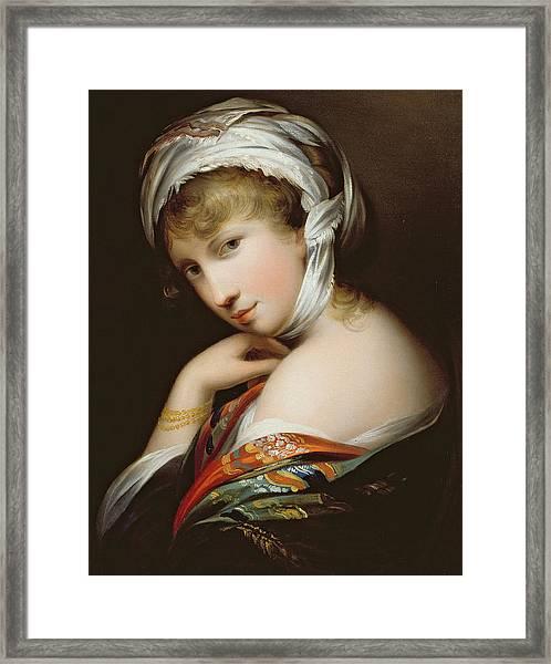 Portrait Of A Lady In Eastern Dress Framed Print
