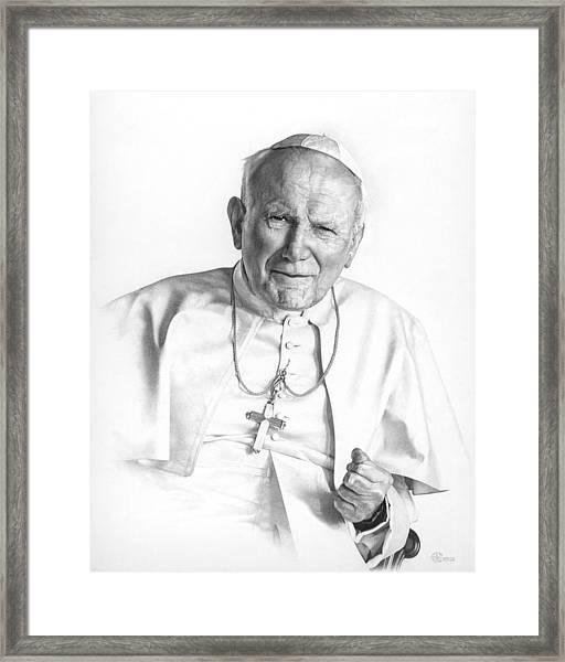Portrait Of A Saint Framed Print