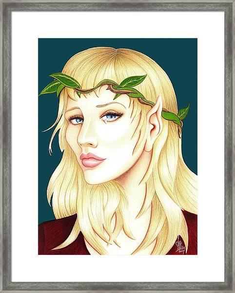 Portrait Of A She Elf Framed Print