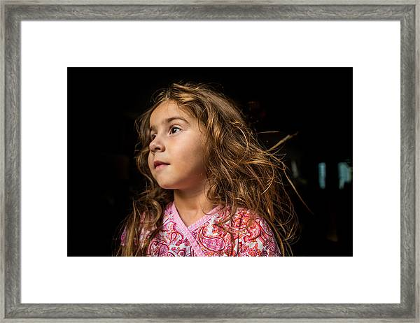 Portrait Of A Young Girl. Framed Print by Fran Polito