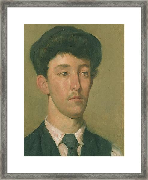 Portrait Of A Youth Framed Print