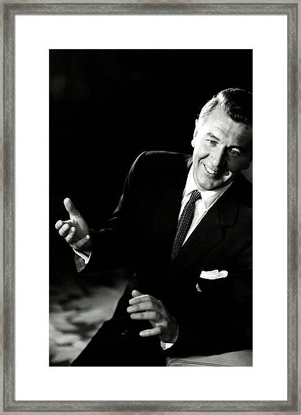 Portrait Of Actor And Director Michael Redgrave Framed Print