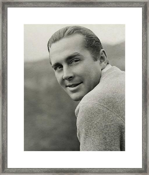 Portrait Of Actor James Dunn Framed Print by Imogen Cunningham