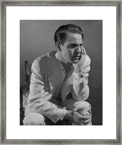 Portrait Of Actor Louis Hayward Framed Print