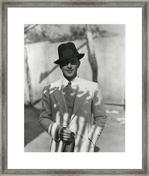 Portrait Of Actor Phillips Holmes Framed Print by George Hoyningen-Huene