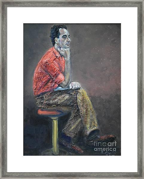 Portrait Of Ali Akrei - The Painter Framed Print