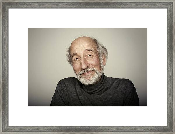 Portrait Of An Older Man Framed Print by Kajetan Kandler