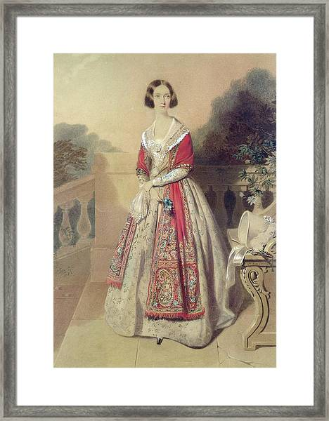 Portrait Of An Unknown Lady  Framed Print