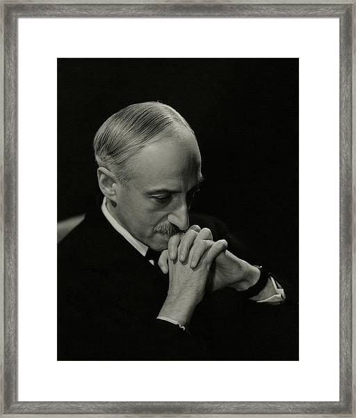 Portrait Of Author Andre Maurois Framed Print