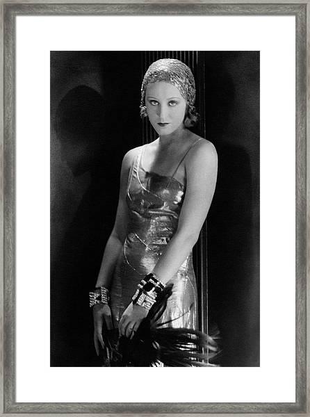 Portrait Of Brigitte Helm Framed Print