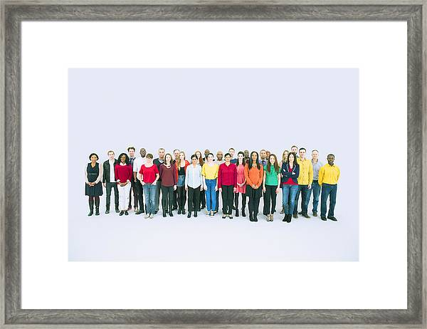 Portrait Of Business People Framed Print by Caiaimage/Robert Daly