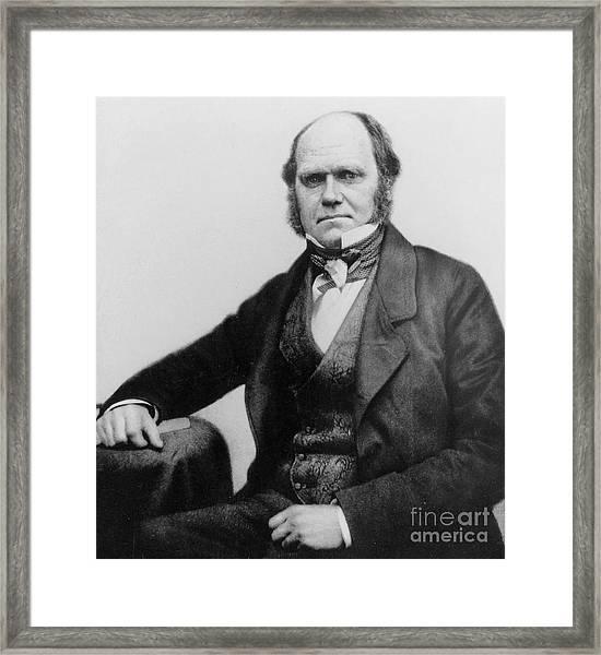 Portrait Of Charles Darwin Framed Print