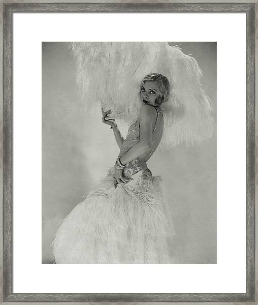 Portrait Of Claire Luce Framed Print