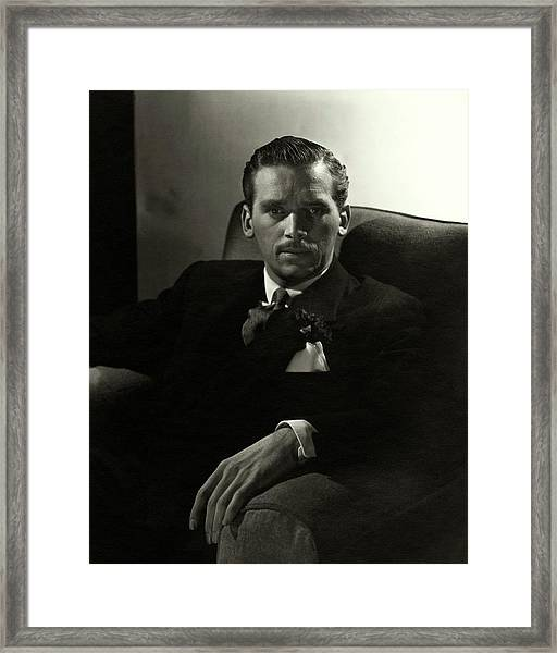 Portrait Of Douglas Fairbanks Jr Framed Print