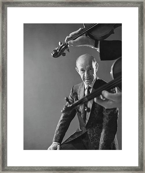 Portrait Of Erich Leinsdorf Framed Print by Reid Miles