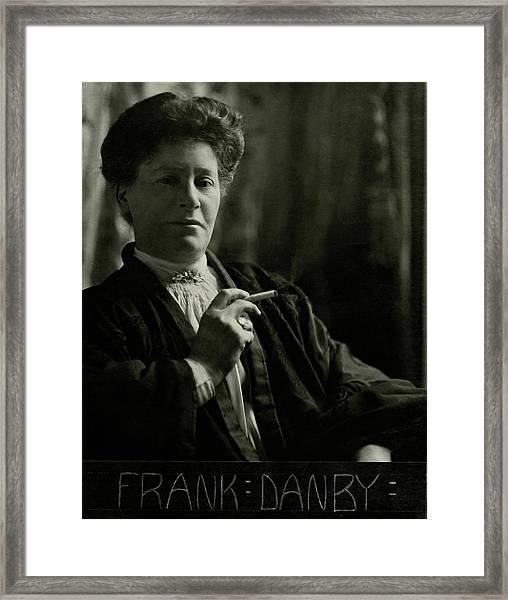 Portrait Of Frank Danby Framed Print