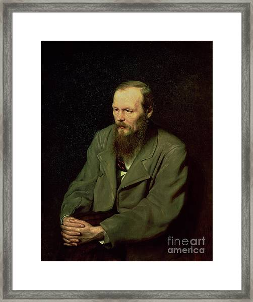 Portrait Of Fyodor Dostoyevsky Framed Print