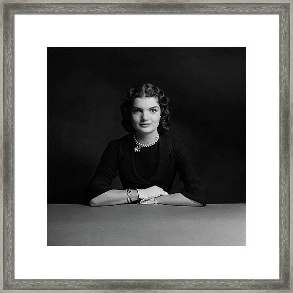 Portrait Of Jacqueline Bouvier Framed Print