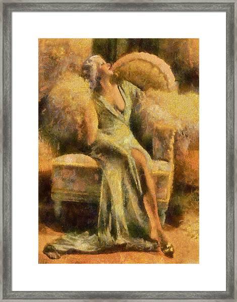 Portrait Of Jean Harlow Framed Print