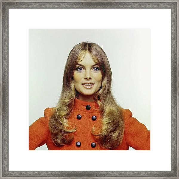 Portrait Of Jean Shrimpton Framed Print