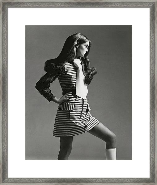 Portrait Of Jean Shrimpton Framed Print