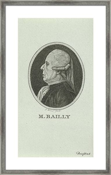 Portrait Of Jean Sylvain Bailly, 1736 - 1793, A French Framed Print by Quint Lox