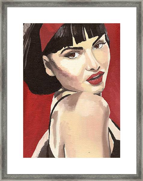 Portrait Of Jenny Bauer Framed Print by Stephen Panoushek