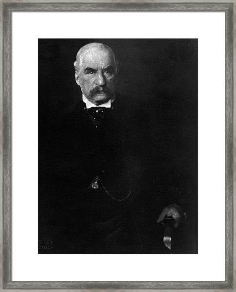Portrait Of John Pierpont Morgan Framed Print by Edward Steichen