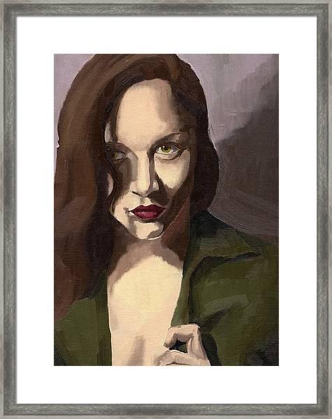 Portrait Of Katelind Framed Print
